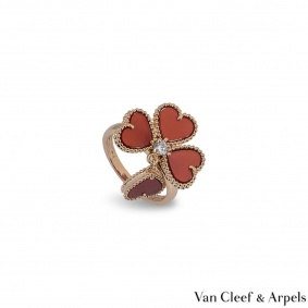 Van Cleef & Arpels Rose Gold Sweet Alhambra Ring VCARN5P600